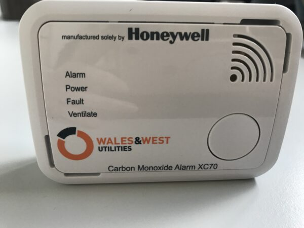 Carbon monoxide detectors supplied by Wales and West Utilities